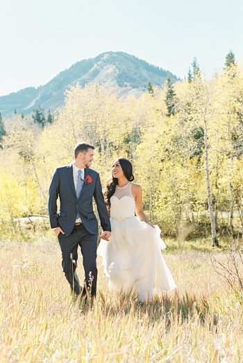 Tibble Fork Utah Fall Wedding Editorial | Alexis June Weddings