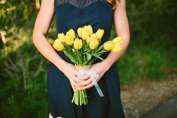 yellow tulip bouquet | Breckenridge wedding | Kristin Partin Photography