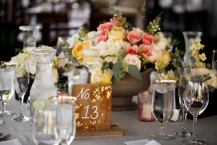 Rustic and Romantic Park City Wedding | wooden table numbers | Pepper Nix Photography