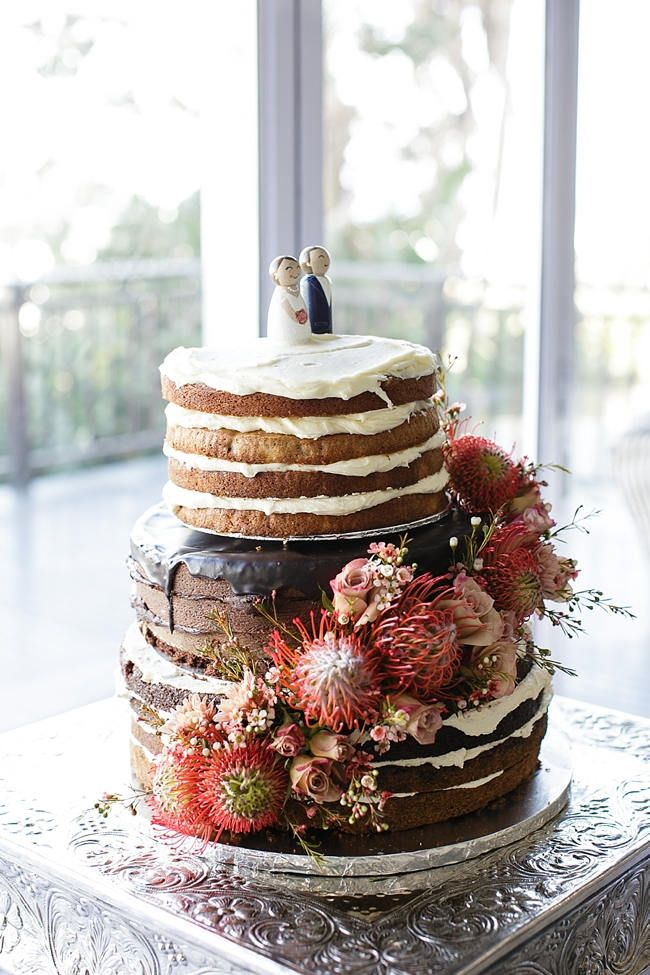 Vanilla and Chocolate Naked Cake | Confetti Daydreams