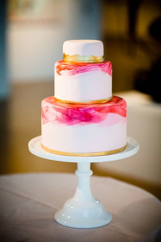 Watercolor Wedding Cake | via Glamour & Grace