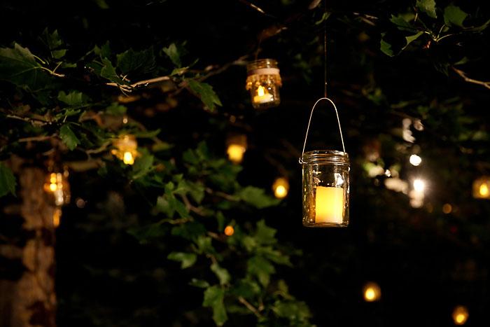 Rustic and Romantic Park City Wedding | mason jar lights | Pepper Nix Photography