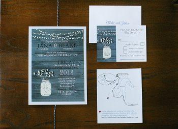 navy invitations | Breckenridge wedding | Kristin Partin Photography