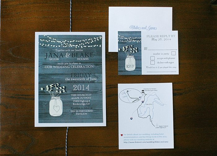 navy invitations | Breckenridge wedding | Kristin Partin Photography