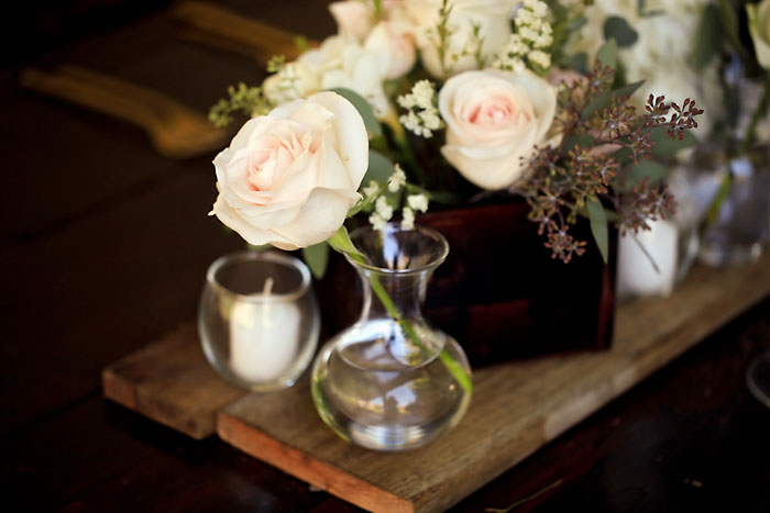 Rustic and Romantic Park City Wedding | floral centerpiece | Pepper Nix Photography