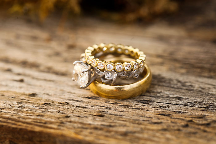 Rustic and Romantic Park City Wedding | wedding rings | Pepper Nix Photography