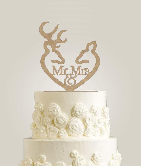 darling deer wedding cake topper