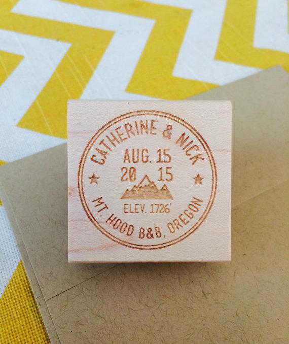 Wedding stamp | mountain address