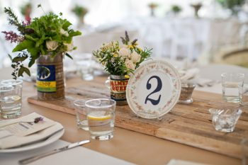 vintage china table number