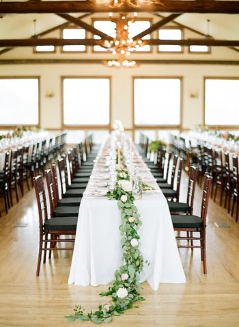 greenery tablescape ideas | Estes Park Blush Pink Wedding | Photography by Connie Whitlock