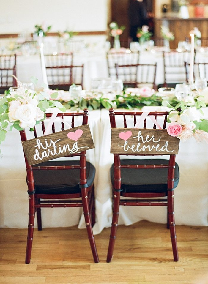 rustic bride and groom seating sign ideas | Estes Park Blush Pink Wedding | Photography by Connie Whitlock