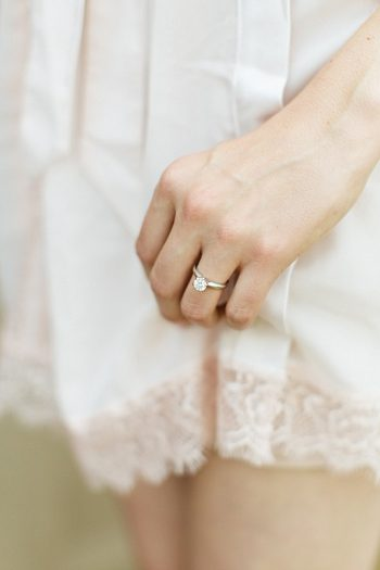 engagement ring | Estes Park Blush Pink Wedding | Photography by Connie Whitlock