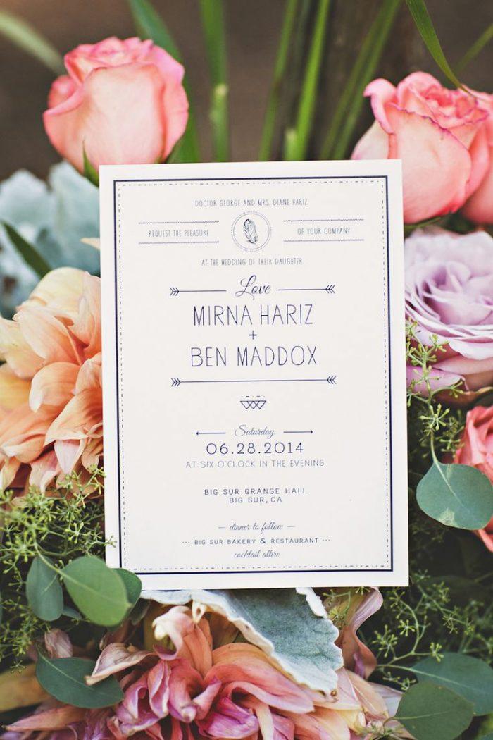 California redwoods wedding invitation