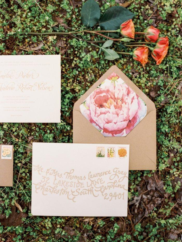 floral envelop liner