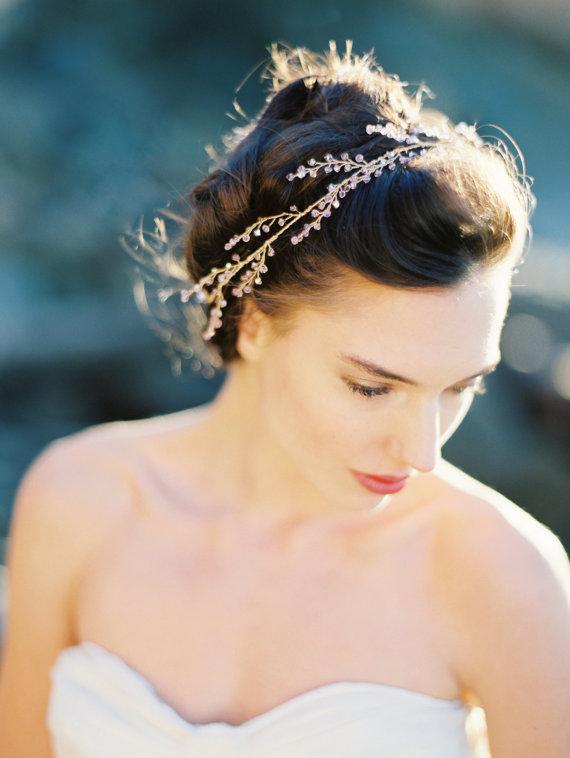 bridal halo light amethyst crystal crown