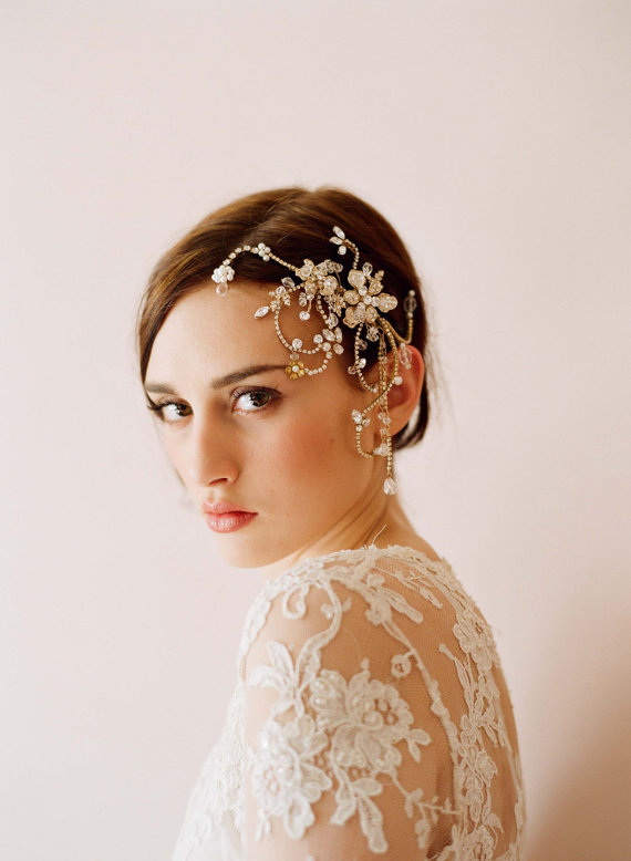 bridal rhinestone headpiece hair comb