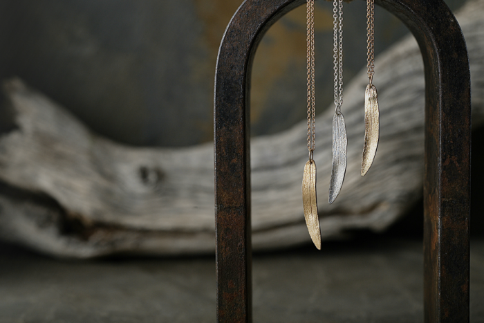 boho and nature-inspired leaf necklaces by colby june