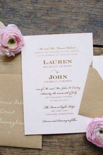 elegant contemporary wedding invitation