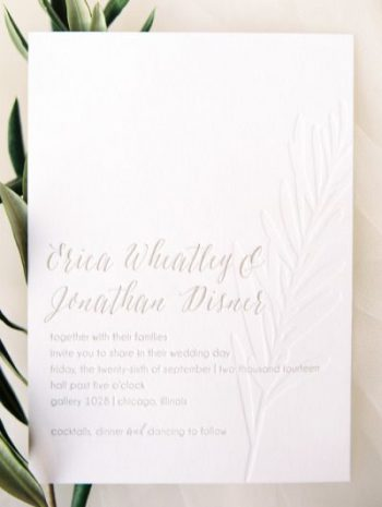 elegant embossed wedding invitation wording
