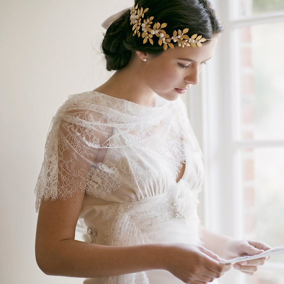 grecian crown bridal hair wedding crown