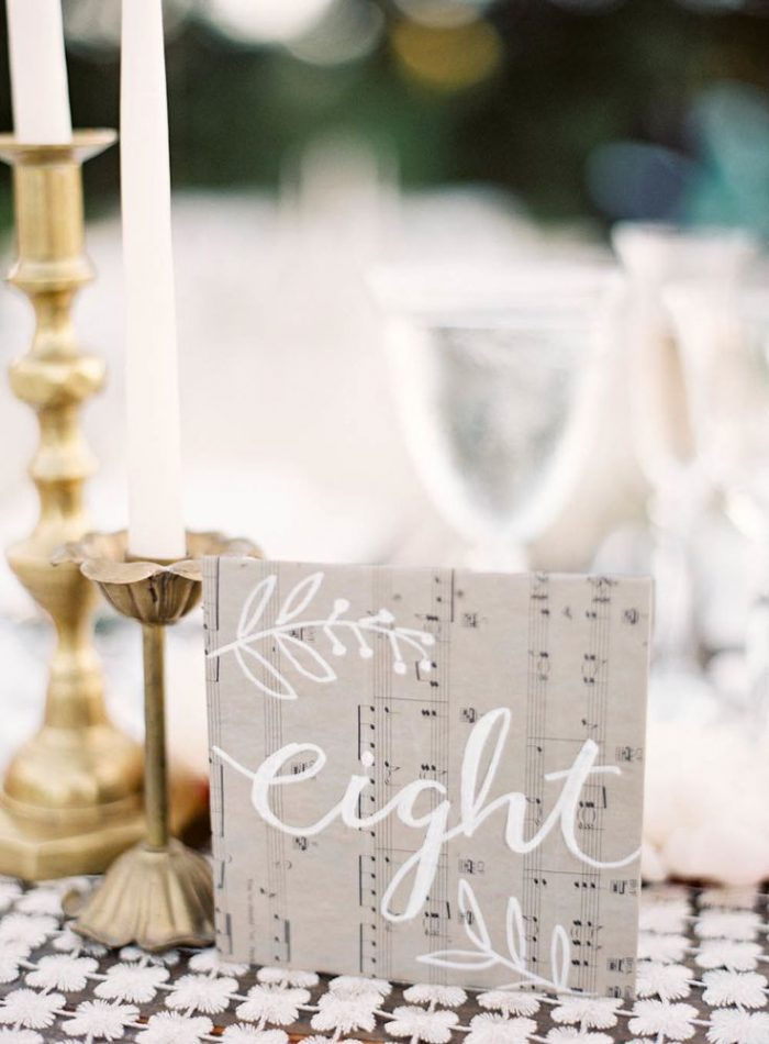music inspired table number