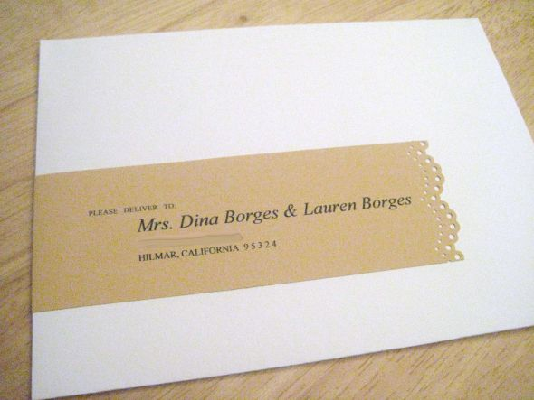 same sex wedding-invitation address label