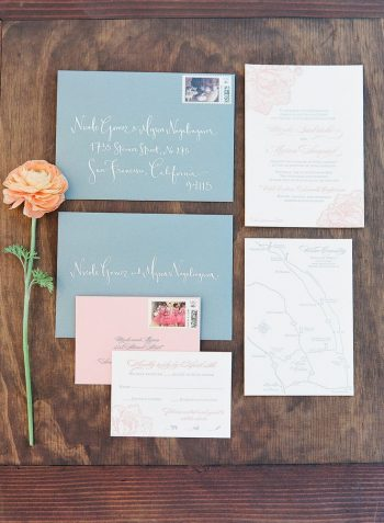white ink on wedding invitations