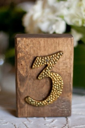 wooden table number