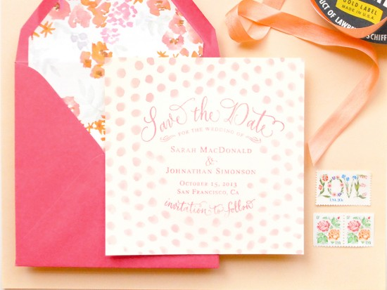 16-oh-so-beautiful-paper-pink-polka-dot-watercolor-save-the-date-pink-dot