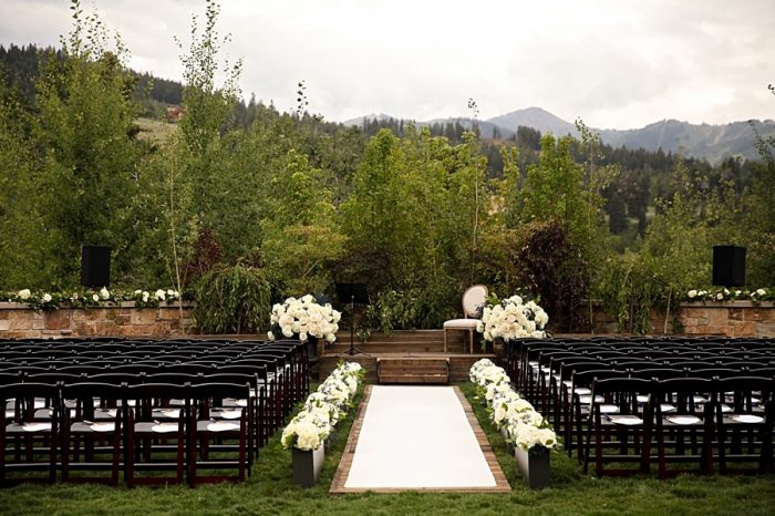 St Regis Deer Valley Ceremony Site | Park City Utah Wedding | Pepper Nix Photography