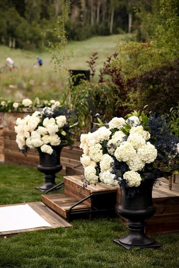 Ceremony- Flower Ideas | Park City Utah Wedding | Pepper Nix Photography