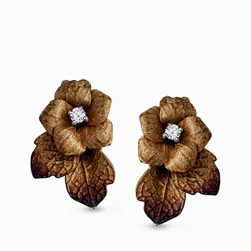 Simon G  18 Carat Gold Yellow Flower Earrings