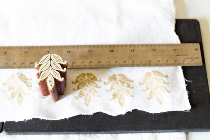DIY block print wedding napkins | by fabric creations