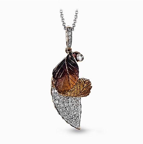 Simon G  organic leaf pendant
