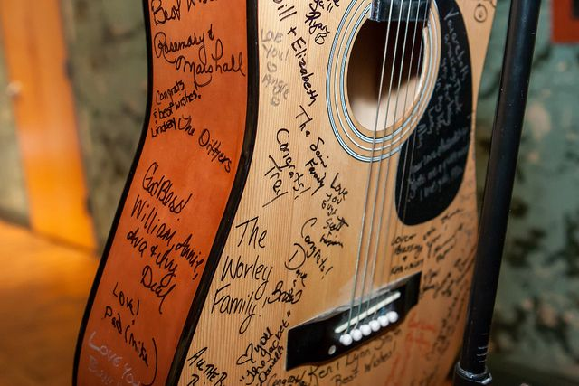 guitar wedding guest book