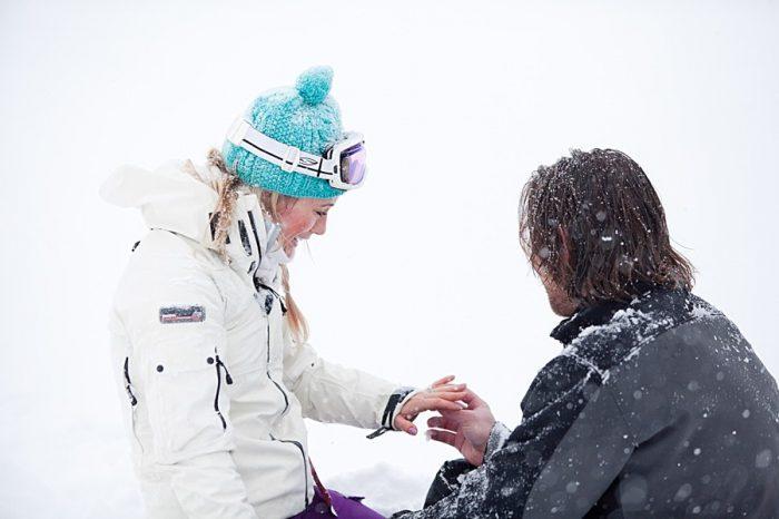 Snowy engagement proposal | Elizabeth Friske Photography