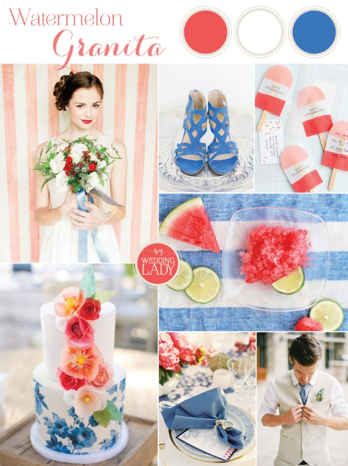 red white and blue summer wedding ideas | Curated by Hey Wedding Lady