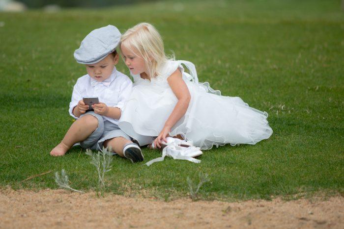Flower girl and ring bearer | Lake Tahoe Wedding | Eric Asistin Photographer