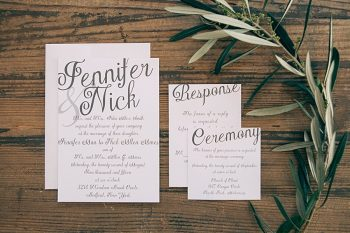 Basic Invite Caligraphy Inspired Wedding Invitations