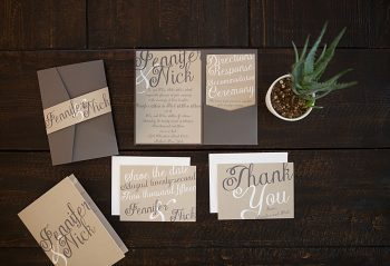 Basic Invite Modern Rustic Wedding Invitation Inspiration