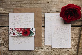 Basic Invite Modern Vintage Rose Wedding Invitation Inspiration