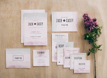 Basic Invite Watercolor Wedding Invitation Inspiration