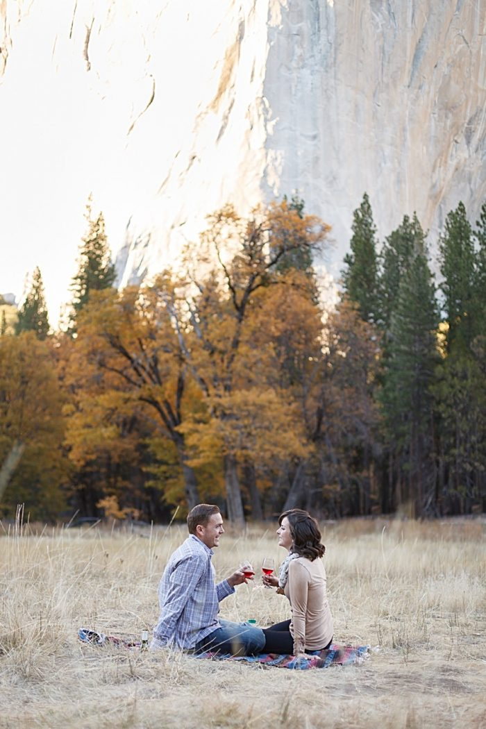 10 Fall Engagement In Yosemite | Bergreen Photography | Via MountainsideBride.com