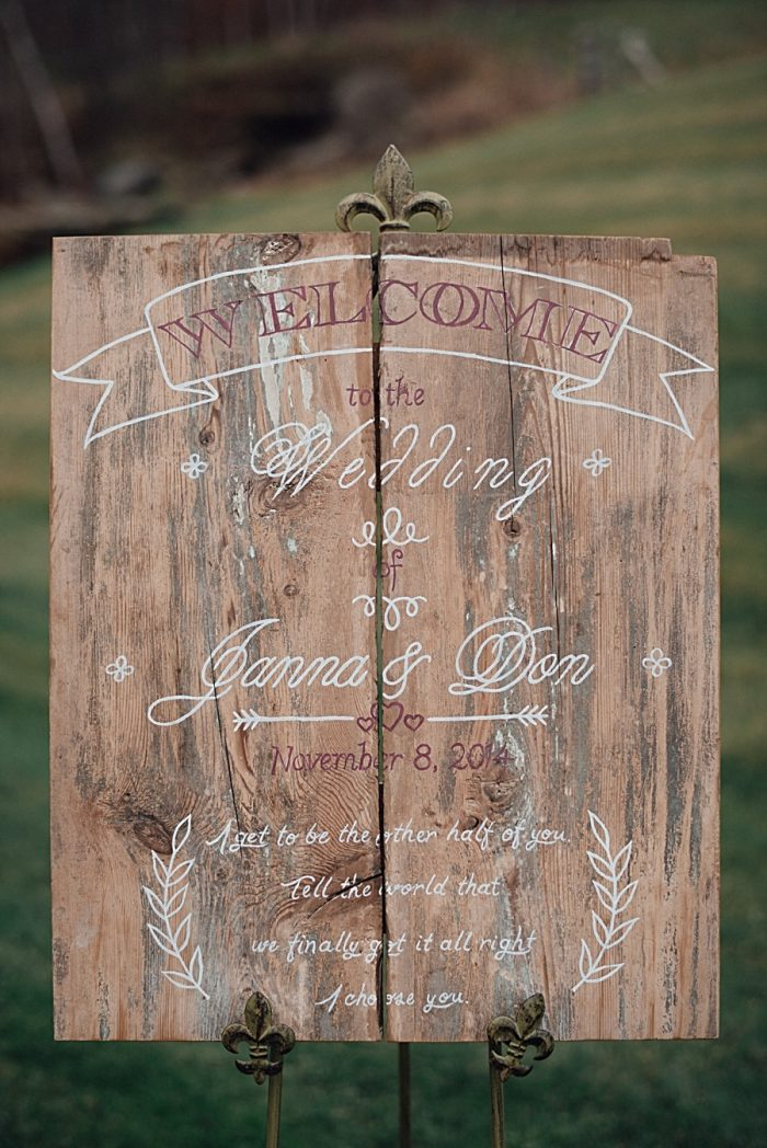 Late Fall Vermont Mountain Wedding At Amee Farm By Love Perry Photography via MountainsideBride.com