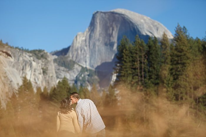 14 Fall Engagement In Yosemite | Bergreen Photography | Via MountainsideBride.com