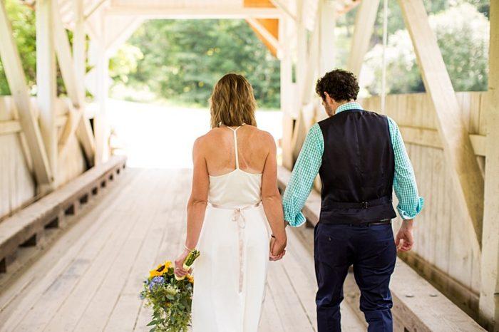 Covered Bridge Vermont Mountain Wedding | Alexix June Photography | Via MountainsideBride.com 0388