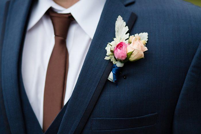 boutonniere | Watercolor Wedding Inspiration | Nordic Center Breckenridge Colorado | Sarah Roshan Wedding Photographer