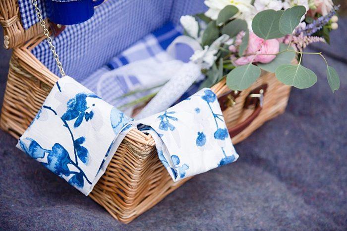 picnic basket | boutonniere | Watercolor Wedding Inspiration | Nordic Center Breckenridge Colorado | Sarah Roshan Wedding Photographer