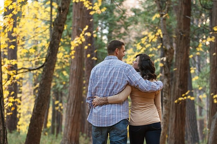 2 Fall Engagement In Yosemite | Bergreen Photography | Via MountainsideBride.com