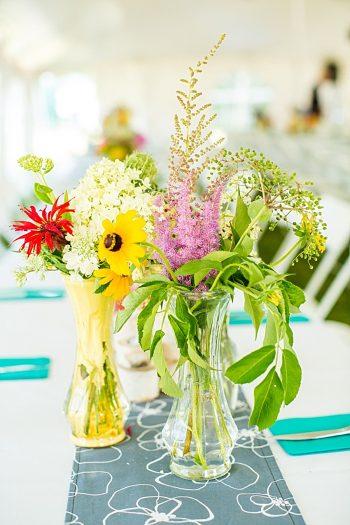 Centerpiece | Vermont Mountain Wedding | Alexix June Photography | Via MountainsideBride.com 0038
